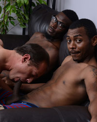 Caden Grey, Brooklyn & Steel Interracial Anal Creampie