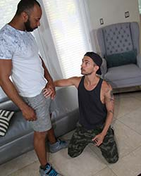 Danny Blue & Ray Diesel Big Black Cock Slut