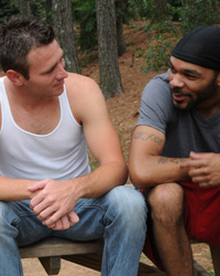 Gay Interracial Sex : Jansen Shaw!