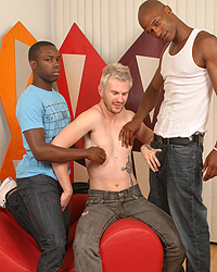 Luke Cross Is Back! Hardcore Interracial Gangbang