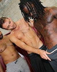Max Adonis, Fame, Knockout & Ray Diesel Hardcore Black Cock