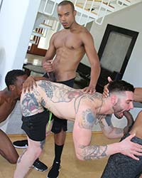 Teddy Bryce, Ray Diesel, Timarrie Baker & Zeero Monster Cocks